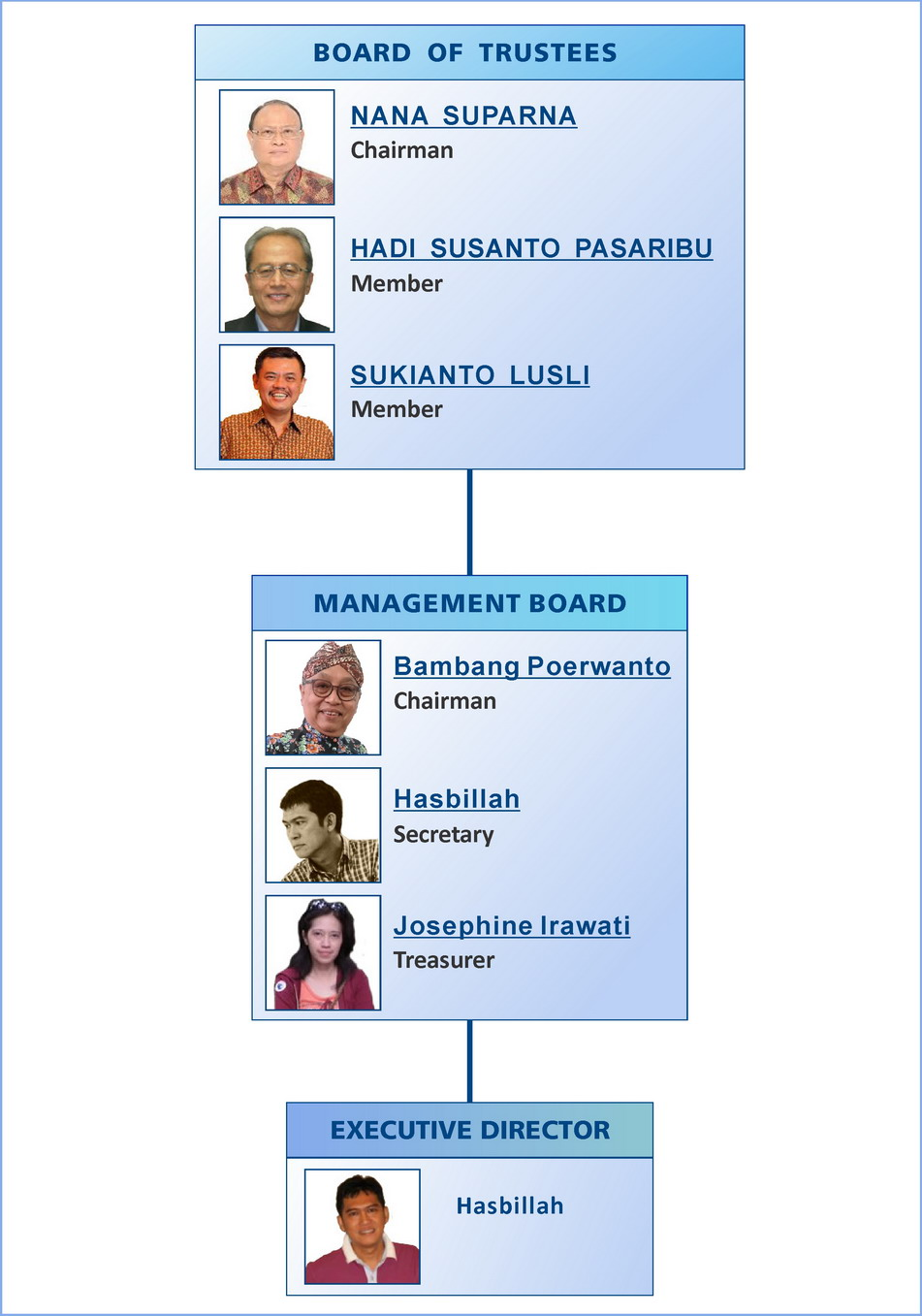 Organization Chart of Tropical Forest Foundation Indonesia